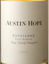 奥斯丁·霍普瑚珊干白葡萄酒(Austin Hope Roussanne,Paso Robles,USA)