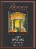 本森黑皮诺干红葡萄酒(Benson Estate Pinot Noir, Washington, USA)