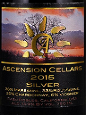 上升酒庄银白混酿干白葡萄酒(Ascension Cellars Silver, Paso Robles, USA)