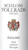 沃尔莱茨酒庄晚收雷司令甜白葡萄酒(Schloss Vollrads Riesling Spatlese, Rheingau, Germany)