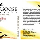 野鹅雷司令干白葡萄酒(Wild Goose Winery Riesling,Okanagan Valley,Canada)
