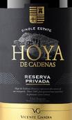 维森特甘迪亚酒庄私人珍藏红葡萄酒(Bodegas Vicente Gandia Hoya de Cadenas Reserva Privada, Utiel-Requena, Spain)