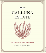 卡露娜酒庄干红葡萄酒(Calluna Vineyards Calluna Estate, Chalk Hill, USA)