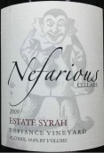尼菲酒窖迪法恩斯园西拉干红葡萄酒(秦林湖)(Nefarious Cellars Defiance Vineyard Estate Syrah,Lake Chelan...)