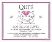 曲佩奥利弗斯特酿西拉-慕合怀特-歌海娜干红葡萄酒(Qupe Los Olivos Cuvee Syrah-Mourvedre-Grenache,Santa Ynez ...)