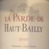 高柏丽拉帕德干红葡萄酒(La Parde de Haut-Bailly,Pessac-Leognan,France)