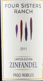 四姐妹农场限量发行仙粉黛干红葡萄酒(Four Sisters Ranch Limited Edition Zinfandel,Central Valley,...)