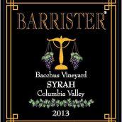 律师巴克斯园西拉干红葡萄酒(Barrister Winery Bacchus Syrah, Columbia Valley, USA)