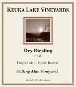 库克湖坠落者葡萄园雷司令干白葡萄酒(Keuka Lake Vineyards Falling Man Vineyard Dry Riesling,...)