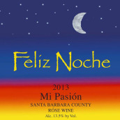 欢夜酒庄吾之激情桃红葡萄酒(Feliz Noche Mi Pasion Rose,Santa Barbara County,USA)