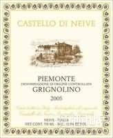 尼维酒庄格丽尼奥里诺干红葡萄酒(Castello di Neive Piemonte Grignolino,Piedmont,Italy)