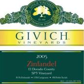 吉维赫SP3园仙粉黛干红葡萄酒(Givich Vineyards SP3 Vinyard Zinfandel,El Dorado County,USA)