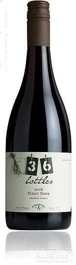 36瓶酒庄黑皮诺干红葡萄酒(36 Bottles Pinot Noir,Central Otago,New Zealand)