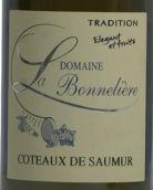 波纳列酒庄索米尔丘传统甜白葡萄酒(Domaine La Bonneliere Coteaux de Saumur Tradition,Saumur-...)
