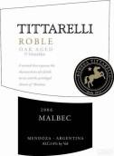 蒂塔雷利罗布尔马尔贝克干红葡萄酒(Tittarelli Roble Malbec,Mendoza,Argentina)