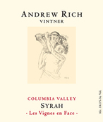 安德鲁里奇温斯之脸西拉干红葡萄酒(Andrew Rich Vintner Les Vignes en Face Syrah,Columbia Valley...)