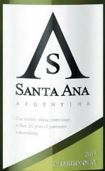 圣安纳霞多丽干白葡萄酒(Bodegas Santa Ana Chardonnay,Mendoza,Argentina)