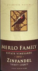梅勒家族仙粉黛干红葡萄酒(Merlo Family Estate Vineyards Zinfandel, Trinity County, USA)