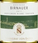 巴登侯爵博牛尔长相思干白葡萄酒(Weingut Markgraf Von Baden Birnauer Sauvignon Blanc Trocken,...)
