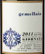 乔纳塔酒庄吉美莱干红葡萄酒(Giornata Gemellaia, Paso Robles, USA)