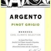 银谷秋爽灰皮诺干白葡萄酒(Argento Cool Climate Pinot Grigio, Mendoza, Argentina)
