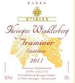 施蒂格勒依瑞恩温克乐堡塔明娜迟摘白葡萄酒(Weingut Stigler Ihringen Winklerberg Traminer Spätlese, Baden, Germany)