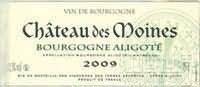 得梅因城堡勃艮第阿里高特干白葡萄酒(Chateau des Moines Bourgogne Aligote,Burgundy,France)