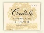 卡尔丽丝酒庄卡罗斯牧场仙粉黛干红葡萄酒(Carlisle Carlos Ranch Zinfandel, Russian River Valley, USA)