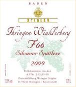 施蒂格勒依瑞恩温克乐堡66号桶西万尼迟摘干白葡萄酒(Weingut Stigler Ihringer Winklerberg Silvaner Spätlese F 66 trocken, Baden, Germany)