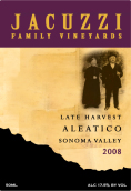 佳卡兹酒庄迟摘阿利蒂科红葡萄酒(Jacuzzi Family Late Harvest Aleatico,Sonoma Valley,USA)