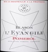 乐王吉徽纹干红葡萄酒(Blason de L'Evangile,Pomerol,France)