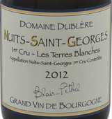 都柏莱酒庄特雷斯布兰奇(夜圣乔治一级园)白葡萄酒(Domaine Dublere Les Terres Blanches,Nuits-Saint-Georges 1er ...)