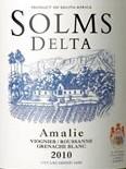 索姆达塔阿马里干白葡萄酒(Solms Delta Amalie,Western Cape,South Africa)