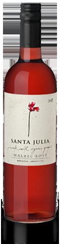 朱卡迪园桑塔茱莉亚有机马尔贝克桃红葡萄酒(Familia Zuccardi Santa Julia Organica Malbec Rose,Mendoza,...)