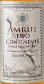 阿慕两大洲限量第三版单一麦芽威士忌(Amrut Two Continents Limited Third Edition Single Malt Whisky, Bangalore, India)