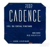 凯登斯天空马园干红葡萄酒(Cadence Winery Ciel du Cheval Vineyard Red, Columbia Valley, USA)