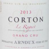 阿诺父子酒庄罗尼(科尔登特级园)红葡萄酒(Domaine Arnoux Pere Et Fils Corton Le Rognet Grand Cru, Cote de Beaune, France)