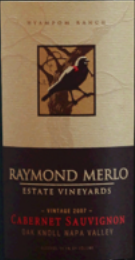 梅勒家族赤霞珠干红葡萄酒(Merlo Family Estate Vineyards Cabernet Sauvignon, Oak Knoll, USA)