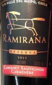 奇骏庄园珍藏赤霞珠-佳美娜混酿干红葡萄酒(Ventisquero Ramirana Reserva Cabernet Sauvignon - Carmenere, Maipo Valley, Chile)