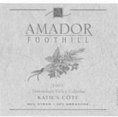 阿马多尔山麓卡蒂科特干红葡萄酒(Amador Foothill Winery Katie's Cote Red,Sierra Foothills,USA)