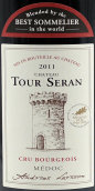 宝塔酒庄红葡萄酒(Chateau Tour Seran,Medoc,France)