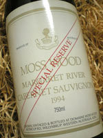 慕丝森林珍藏赤霞珠干红葡萄酒(Moss Wood Special Reserve Cabernet Sauvignon,Margaret River,...)