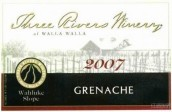 三河酒庄歌海娜干红葡萄酒(Three Rivers Winery Grenache, Wahluke Slope, USA)