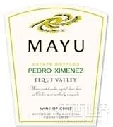 马玉佩德罗希梅内斯干白葡萄酒(Mayu Pedro Ximenez,Elqui Valley,Chile)