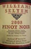 威廉斯乐姆酒庄亚麻园黑皮诺干红葡萄酒(Williams Selyem Estate Vineyard Flax Vineyard Pinot Noir, Russian River Valley, USA)