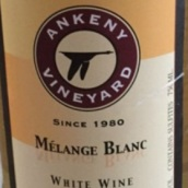 安克尼混酿干白葡萄酒(Ankeny Melange Blanc,Willamette Valley,USA)