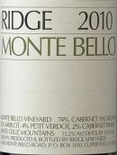 山脊蒙特-贝罗干红葡萄酒(Ridge Monte Bello,Santa Cruz Mountains,USA)