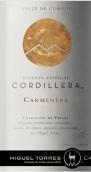 智利桃乐丝科迪勒拉山佳美娜干红葡萄酒(Miguel Torres Cordillera Carmenere,Curico Valley,Chile)
