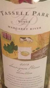 塔苏尔园酒庄长相思赛美蓉混酿干白葡萄酒(Tassell Park Sauvignon Blanc-Semillon,Margaret River,...)