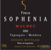 索菲亚马尔贝克干红葡萄酒(Finca Sophenia Malbec,Tupungato,Argentina)